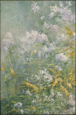 John Henry Twachtman (American, 1853-1902). Meadow Flowers (Golden Rod and Wild Aster), ca. 1892. Oil on canvas, 33 5/16 x 22 3/16 in. (84.6 x 56.3 cm). Brooklyn Museum, Caroline H. Polhemus Fund, 13.36