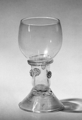 Goblet for Rhine Wine, Last quarter of 17th Century. Glass, 4 3/4 x 2 7/16 x 2 1/8 in. (12.1 x 6.2 x 5.4 cm). Brooklyn Museum, Purchased by Special Subscription and Museum Collection Fund, 13.530. Creative Commons-BY