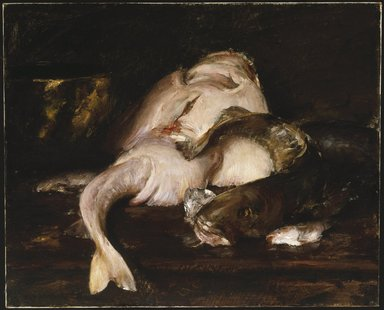 William Merritt Chase (American, 1849-1916). Still Life, Fish, 1912. Oil on canvas, 31 7/8 x 39 7/16 in. (81 x 100.2 cm). Brooklyn Museum, John B. Woodward Memorial Fund, 13.54