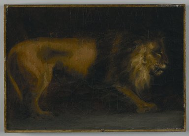 Théodore Géricault (French, 1791-1829). Study of a Lion (or a Lion). Oil on canvas, 19 3/4 x 15 1/4 in.  (50.2 x 38.7 cm). Brooklyn Museum, Gift of Charles A. Schieren, 13.68