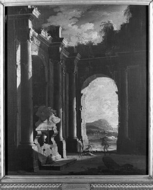 Italian, probably Venetian School. Architectural Perspective of a Nunnery, second half 18th century. Oil on canvas, 37 1/8 x 48 1/4 in. (94.3 x 122.6 cm). Brooklyn Museum, Gift of Charles A. Schieren, 13.89