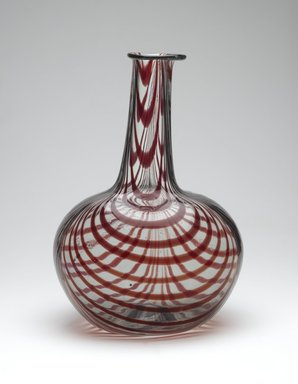 Decanter, ca. 1750-1810. Glass, 9 3/4 x 6 1/2 in. (24.8 x 16.5 cm). Brooklyn Museum, Purchased by Special Subscription and Museum Collection Fund, 13.927. Creative Commons-BY