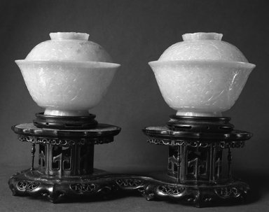 Brooklyn Museum: One of a Pair of Bowls and Covers