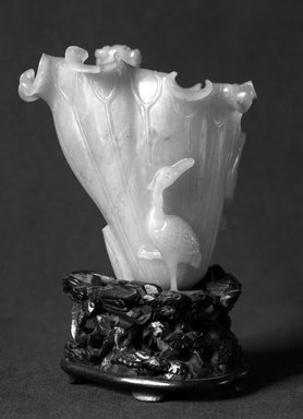 Cup, 18th century (probably). Jade, 3 1/2 x 3 1/8 in. (8.9 x 8 cm). Brooklyn Museum, Bequest of Robert B. Woodward, 14.480. Creative Commons-BY