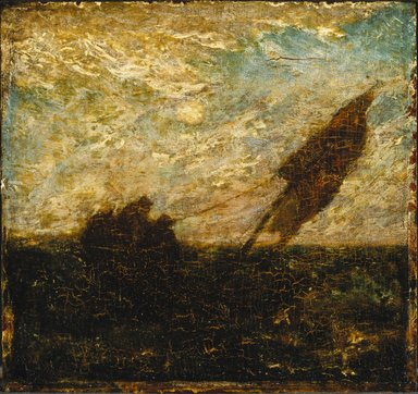 Albert Pinkham Ryder (American, 1847-1917). The Waste of Waters is Their Field, early 1880s. Oil on panel, 11 5/16 x 12 in. (28.8 x 30.5 cm). Brooklyn Museum, John B. Woodward Memorial Fund, 14.556