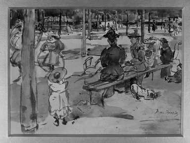 Isaac Israels (Dutch, 1865-1934). In the Park. Watercolor, 9 15/16 x 12 3/4 in. (25.2 x 32.4 cm). Brooklyn Museum, Gift of A. Augustus Healy, 14.573
