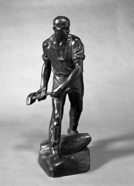 Constantin Meunier (Belgian, 1831-1905). The Quarryman, 1896. Bronze, 22 x 10 x 11 in. (55.9 x 25.4 x 27.9 cm). Brooklyn Museum, Gift of Alfred T. White, 14.588. Creative Commons-BY