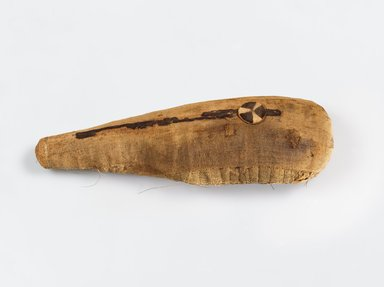 Ibis Mummy, 30 B.C.E.– 100 C.E. Animal remains, linen, 4 1/2 x 3 1/2 x 14 1/2 in. (11.4 x 8.9 x 36.8 cm). Brooklyn Museum, Gift of the Egypt Exploration Fund, 14.652. Creative Commons-BY