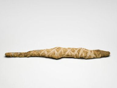 Crocodile Mummy, 1st century C.E. Animal remains, linen, white tape, 3 11/16 x 29 3/16 in. (9.3 x 74.2 cm). Brooklyn Museum, Museum Collection Fund, 14.668. Creative Commons-BY