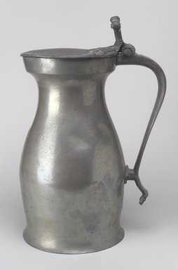 Measure Flagon, early 18th century. Pewter, 13 1/8 x 8 7/8 x 6 5/8 in. (33.3 x 22.5 x 16.8 cm). Brooklyn Museum, Gift of Luke Vincent Lockwood, 14.687. Creative Commons-BY