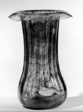 Tiffany Studios (1902-1932). Vase, ca. 1900. Opalescent glass, 8 3/8 x 5 7/8 x 5 7/8 in. (21.3 x 14.9 x 14.9 cm). Brooklyn Museum, Gift of Charles W. Gould, 14.739.10. Creative Commons-BY