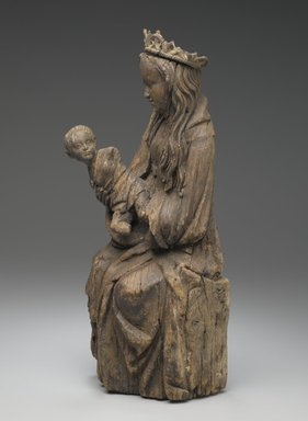 Brooklyn Museum: Seated Figure of the Virgin Holding the Christ Child