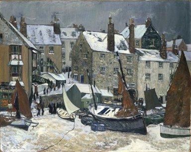 Hayley Lever (American, 1876-1958). Winter, St. Ives, ca. 1914. Oil on canvas, 40 1/16 x 50 in. (101.8 x 127 cm). Brooklyn Museum, Caroline H. Polhemus Fund, 15.279