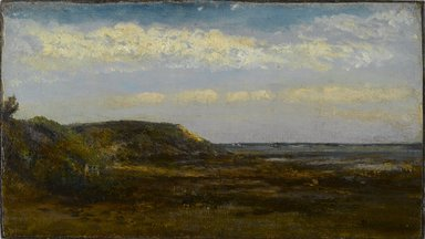 Homer Dodge Martin (American, 1836-1897). Normandy Coast, 1884. Oil on board, 7 3/16 x 12 11/16 in. (18.3 x 32.2 cm). Brooklyn Museum, Bequest of Charles A. Schieren, 15.281