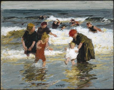 Edward Henry Potthast (American, 1857-1927). Bathers, ca. 1913. Oil on panel, 12 5/8 x 16 in. (32 x 40.7 cm). Brooklyn Museum, John B. Woodward Memorial Fund, 15.290