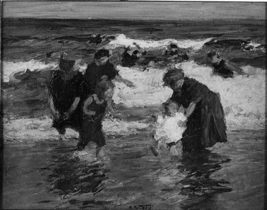 Edward Henry Potthast (American, 1857-1927). Bathers, ca. 1913. Oil on panel, 12 5/8 x 16 in. (32 x 40.7 cm). Brooklyn Museum, John B. Woodward Memorial Fund, 15.290