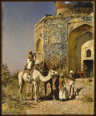 Edwin Lord Weeks (American, 1849-1903). The Old Blue-Tiled Mosque, outside Delhi, India, ca. 1885. Oil on canvas, 31 5/16 x 25 1/2 in. (79.6 x 64.8 cm). Brooklyn Museum, Gift of George D. Pratt, 15.300
