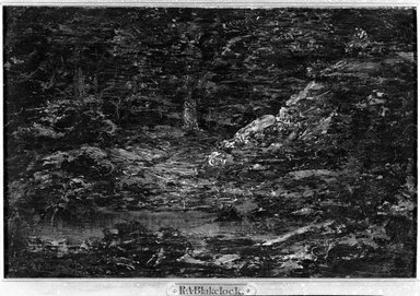 Ralph Albert Blakelock (American, 1847-1919). The Edge of the Woods, n.d. Oil on canvas, 11 7/8 x 7 7/8 in. (30.1 x 20 cm). Brooklyn Museum, Bequest of Charles A. Schieren, 15.308