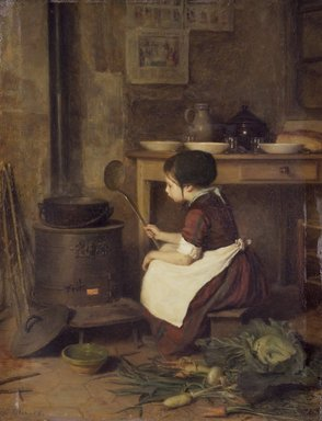 Pierre-Édouard  Frère (French, 1819-1886). The Little Cook (La Petite cuisinière), 1858. Oil on panel, 12 1/8 x 9 1/4in. (30.8 x 23.5cm). Brooklyn Museum, Bequest of Robert B. Woodward, 15.328