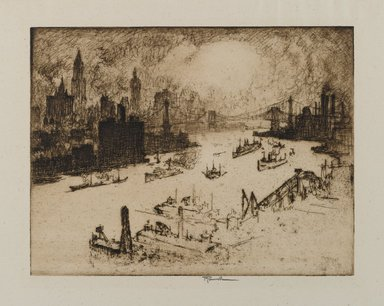 Brooklyn Museum: Sunset From Williamsburg Bridge