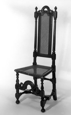 American. Side Chair, ca. 1700., 49 3/4 x 17 1/2 x 15 in. (126.4 x 44.5 x 38.1 cm). Brooklyn Museum, Henry L. Batterman Fund, 15.34. Creative Commons-BY