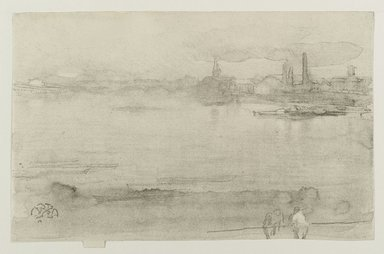 James Abbott McNeill Whistler (American, 1834-1903). Early Morning, 1878. Lithograph (lithotint) on cream, moderately thick, smooth paper, Sheet: 6 3/4 x 10 1/4 in. (17.1 x 26 cm). Brooklyn Museum, Gift of the Rembrandt Club, 15.374