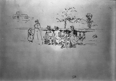 James Abbott McNeill Whistler (American, 1834-1903). The Terrace, Luxembourg, 1894. Lithograph, 7 15/16 x 13 5/16 in. (20.2 x 33.8 cm). Brooklyn Museum, Gift of the Rembrandt Club, 15.396