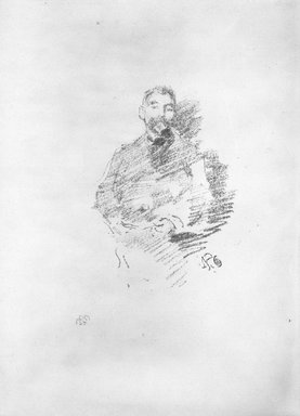 James Abbott McNeill Whistler (American, 1834-1903). Stephane Mallarme, 1892. Lithograph, 8 1/16 x 6 1/8 in. (20.5 x 15.6 cm). Brooklyn Museum, Gift of the Rembrandt Club, 15.400