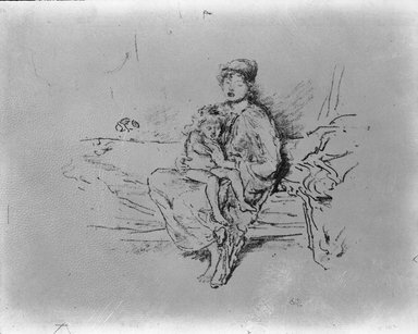 James Abbott McNeill Whistler (American, 1834-1903). Mother and Child, No. 2, 1890. Lithograph, 8 15/16 x 11 1/8 in. (22.7 x 28.3 cm). Brooklyn Museum, Gift of the Rembrandt Club, 15.415