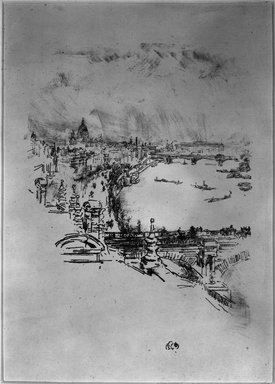 James Abbott McNeill Whistler (American, 1834-1903). Little London, 1896. Lithograph, 11 15/16 x 7 in. (30.3 x 17.8 cm). Brooklyn Museum, Gift of the Rembrandt Club, 15.418