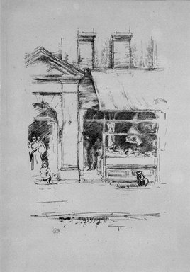 James Abbott McNeill Whistler (American, 1834-1903). The Butcher's Dog, 1896. Lithograph on paper, Sheet: 11 13/16 x 7 3/8 in. (30 x 18.7 cm). Brooklyn Museum, Gift of the Rembrandt Club, 15.421
