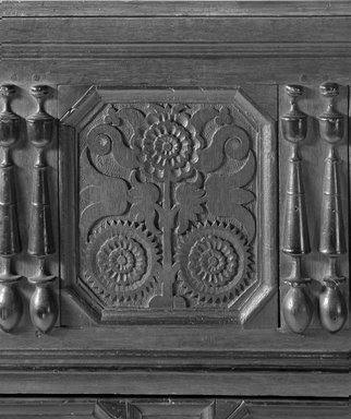 Connecticut Chest, 1690. Oak, pine , 40 1/2 x 47 9/16 x 20 1/2 x 48 in. (102.9 x 120.8 x 52.1 x 121.9 cm). Brooklyn Museum, Gift of George D. Pratt, 15.480. Creative Commons-BY