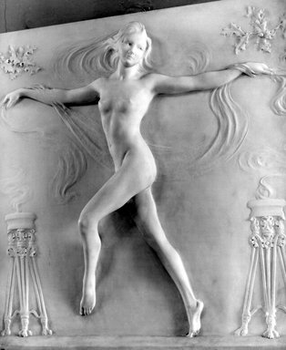 Bela Lyon Pratt (American, 1867-1917). Nude Figure of a Girl Dancing, 1910. Marble, 31 1/8 x 29 1/2 x 4 1/2 in. (79.1 x 74.9 x 11.4 cm). Brooklyn Museum, Gift of George D. Pratt, 15.482. Creative Commons-BY