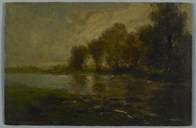 Robert Crannell Minor (American, 1839-1904). On the Upper Thames, Connecticut, n.d. Oil on board, 6 1/4 x 9 1/2 in. (15.8 x 24.1 cm). Brooklyn Museum, Bequest of Charles A. Schieren, 15.505