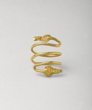 Egypto-Roman. Finger Ring with Busts of Deities, 1st century B.C.E.-1st century C.E. Gold, Diameter 15/16 x Length 1 1/4 in. (2.4 x 3.2 cm). Brooklyn Museum, Gift of Evangeline Wilbour Blashfield, Theodora Wilbour, and Victor Wilbour honoring the wishes of their mother, Charlotte Beebe Wilbour, as a memorial to their father, Charles Edwin Wilbour, 16.148. Creative Commons-BY