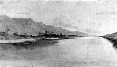 Brooklyn Museum: The Nile, Gray Morning, Gebelain