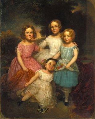 Charles Wesley Jarvis (American, 1812-1868). Adrian Bancker Holmes Children, ca. 1850. Oil on canvas, 60 1/4 x 48 1/16 in. (153 x 122 cm). Brooklyn Museum, Gift of Kathryn C. Blauvelt, 16.37