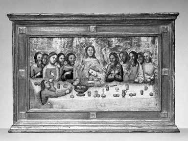 Pseudo-Jacopino di Francesco (Italian, Bolognese School, ca. 1325-1350/60). The Last Supper (Ultima Cena), ca. 1325-1330. Tempera and tooled gold on poplar panel, 7 11/16 x 14 in. (19.5 x 35.5 cm). Brooklyn Museum, Gift of A. Augustus Healy, 16.443
