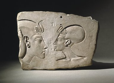 The Wilbour Plaque, ca. 1352-1336 B.C.E. or slightly later. Limestone, 6 3/16 x 8 11/16 x 1 5/8 in. (15.7 x 22.1 x 4.1 cm). Brooklyn Museum, Gift of Evangeline Wilbour Blashfield, Theodora Wilbour, and Victor Wilbour honoring the wishes of their mother, Charlotte Beebe Wilbour, as a memorial to their father, Charles Edwin Wilbour, 16.48. Creative Commons-BY