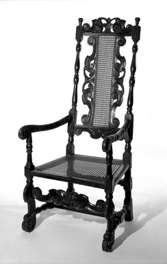 Armchair, 17th Century. Oak and cane, 49 3/4 x 22 3/4 x 21 1/2 in. (126.4 x 57.8 x 54.6 cm). Brooklyn Museum, Gift of Kate Hicks Wolff, 16.510.1. Creative Commons-BY