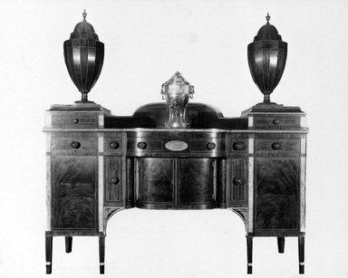 Side Board, ca. 1790. Mahogany inlay, 53 1/8 x 29 3/8 x 78 7/8 in. (134.9 x 74.6 x 200.3 cm). Brooklyn Museum, Gift of Frederic B. Pratt, 16.515.1-.3. Creative Commons-BY