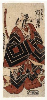 Torii Kiyotsune (Japanese, active 1760-1779). The Actor Ichikawa Danzo in a Shibaraku Role, ca. 1777. Woodblock color print, 11 9/16 x 5 3/16 in. (29.3 x 13.2 cm). Brooklyn Museum, Museum Collection Fund, 16.542