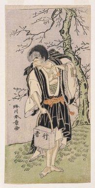 Katsukawa Shunsho (Japanese, 1726-1793). The Actor Ichikawa Danjuro V as Raigo Ajari, ca. 1772. Woodblock color print, Sheet: 12 1/16 x 5 15/16 in. (30.9 x 15.1 cm). Brooklyn Museum, Museum Collection Fund, 16.552