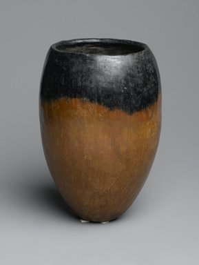 Black-Topped Pottery Jar, ca. 3500-3300 B.C.E. Clay, 7 7/16 x Greatest Diam. 5 1/8 in. (18.9 x 13 cm). Brooklyn Museum, Gift of Evangeline Wilbour Blashfield, Theodora Wilbour, and Victor Wilbour honoring the wishes of their mother, Charlotte Beebe Wilbour, as a memorial to their father, Charles Edwin Wilbour, 16.580.139. Creative Commons-BY