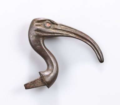 Ibis Head, 664–30 B.C.E. Bronze, 4 x 4 1/2 x 7/8 in. (10.2 x 11.4 x 2.2 cm). Brooklyn Museum, Gift of Evangeline Wilbour Blashfield, Theodora Wilbour, and Victor Wilbour honoring the wishes of their mother, Charlotte Beebe Wilbour, as a memorial to their father, Charles Edwin Wilbour, 16.580.156. Creative Commons-BY