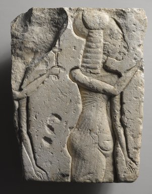 Two Princesses, ca. 1352-1336 B.C.E. Limestone, 9 5/8 x 7 1/16 in. (24.5 x 18 cm). Brooklyn Museum, Gift of Evangeline Wilbour Blashfield, Theodora Wilbour, and Victor Wilbour honoring the wishes of their mother, Charlotte Beebe Wilbour, as a memorial to their father, Charles Edwin Wilbour, 16.60. Creative Commons-BY