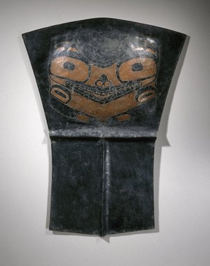 Haida (Native American). Copper (Tlakwa), 19th century. Copper alloy, pigment, 29 3/4 x 22 1/4 x 1 3/4 in. (75.6 x 56.5 x 4.4 cm). Brooklyn Museum, Museum Collection Fund, 16.749.1. Creative Commons-BY