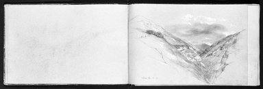 George Henry Hall (American, 1825-1913). Sketchbook, various dates, 1852-1893. Graphite and opaque watercolor on cream, blue, beige, medium thick, slightly textured wove papers, Closed: 11 1/16 x 16 13/16 x 13/16 in. (28.1 x 42.7 x 2.1 cm). Brooklyn Museum, Gift of Jennie Brownscombe, 16.758.1