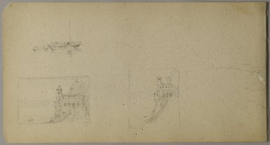 Sanford Robinson Gifford (American, 1823-1880). Italian Sketchbook, 1867-1868. Graphite on tan, medium-weight, slightly textured wove paper, 5 x 9 x 7/16 in. (12.7 x 22.9 x 1.1 cm). Brooklyn Museum, Gift of Jennie Brownscombe, 17.141