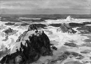 Paul Dougherty (American, 1877-1947). Long Surf. Watercolor, Sheet: 14 x 19 15/16 in. (35.6 x 50.7 cm). Brooklyn Museum, Museum Collection Fund and Frederick Loeser Fund, 17.47